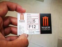 Σημαντικό εισιτήριο κινηματογράφων cineplex στην αξία στο μπατ 140 Στοκ Εικόνες