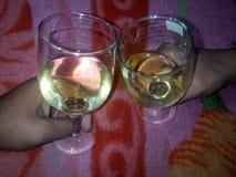 Σημαντικό κόμμα κρασιού της Ιταλίας λευκό στην Ινδία στοκ φωτογραφίες