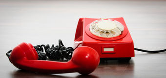 σημαντικό τηλεφωνικό κόκκινο Στοκ φωτογραφία με δικαίωμα ελεύθερης χρήσης