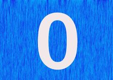 Σημασία του αριθμού μηδέν στοκ εικόνα