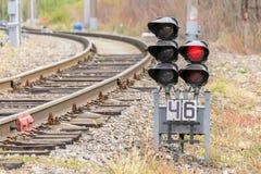 Σηματοφόρος σιδηροδρόμων στοκ εικόνα