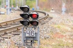 Σηματοφόρος σιδηροδρόμων στοκ εικόνες με δικαίωμα ελεύθερης χρήσης