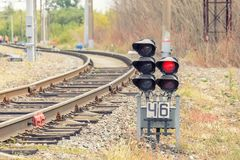 Σηματοφόρος σιδηροδρόμων στοκ φωτογραφία με δικαίωμα ελεύθερης χρήσης