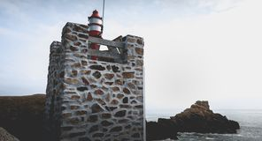 Σηματοφόρος στην είσοδο του λιμένα του Λα Meule στοκ εικόνα με δικαίωμα ελεύθερης χρήσης