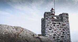 Σηματοφόρος στην είσοδο του λιμένα του Λα Meule στοκ φωτογραφία με δικαίωμα ελεύθερης χρήσης