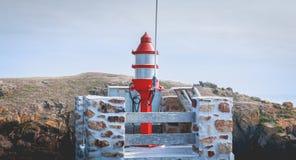 Σηματοφόρος στην είσοδο του λιμένα του Λα Meule στοκ εικόνα