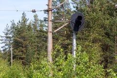 Σηματοφόρος στο δρόμο ραγών Στοκ φωτογραφίες με δικαίωμα ελεύθερης χρήσης