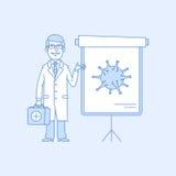 Σημεία γιατρών για να κτυπήσει το διάγραμμα απεικόνιση αποθεμάτων