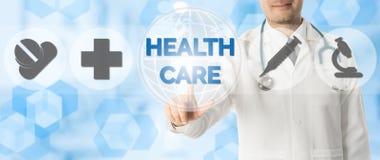Σημεία γιατρών στην υγειονομική περίθαλψη, ιατρικά εικονίδια Στοκ Εικόνες