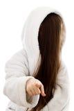 σημεία κοριτσιών δάχτυλων Στοκ Εικόνες