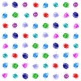 Σημεία watercolor υποβάθρου Καλλιτεχνικοί μικτοί σχέδιο λεκέδες watercolor Κύκλοι Watercolor Στοκ Εικόνα