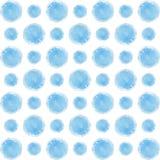 Σημεία Watercolor Υπόβαθρο των σημείων watercolor των διάφορων μεγεθών Μπλε χρώμα Στοκ φωτογραφία με δικαίωμα ελεύθερης χρήσης