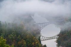 Σημείο άποψης γεφυρών του Φουκουσίμα πρώτο Στοκ φωτογραφία με δικαίωμα ελεύθερης χρήσης