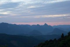 Σημείο άποψης ηλιοβασιλέματος στο μοναχό Crubasai - Ταϊλάνδη Στοκ φωτογραφία με δικαίωμα ελεύθερης χρήσης