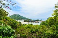 Σημείο άποψης του νησιού Nang Yuan στην Ταϊλάνδη Στοκ Εικόνα