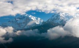 Σημείο άποψης Hill Poon σε Annapurna Hymal Στοκ εικόνα με δικαίωμα ελεύθερης χρήσης