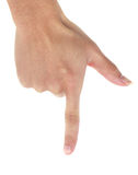 Σημείο δάχτυλων Στοκ Εικόνες