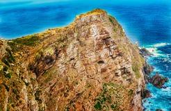 Σημείο ακρωτηρίων κοντά στο ακρωτήριο της καλής ελπίδας Νότια Αφρική Στοκ Εικόνες