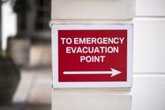 Σημείο εκκένωσης έκτακτης ανάγκης Στοκ Φωτογραφίες