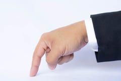 Σημείο επιχειρησιακών χεριών Στοκ εικόνες με δικαίωμα ελεύθερης χρήσης