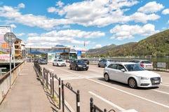 Σημείο ελέγχου συνόρων μεταξύ της Ιταλίας και της Ελβετίας Στοκ εικόνα με δικαίωμα ελεύθερης χρήσης