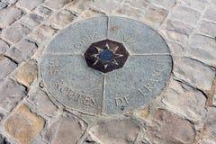 Σημείο μηδέν, Παρίσι, Γαλλία Στοκ εικόνες με δικαίωμα ελεύθερης χρήσης