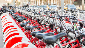 Σημείο μισθώματος ποδηλάτων Στοκ εικόνες με δικαίωμα ελεύθερης χρήσης