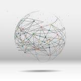 Σημείο παγκόσμιων χαρτών, γραμμή, σύνθεση ο σφαιρικός Στοκ Εικόνα