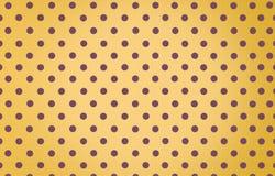 Σημείο Πόλκα με το κίτρινο υπόβαθρο χρώματος κρητιδογραφιών Στοκ εικόνα με δικαίωμα ελεύθερης χρήσης