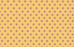 Σημείο Πόλκα με το κίτρινο υπόβαθρο χρώματος κρητιδογραφιών Στοκ Εικόνες