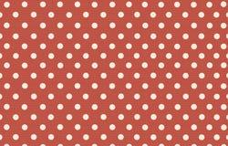Σημείο Πόλκα με το κόκκινο υπόβαθρο χρώματος κρητιδογραφιών Στοκ εικόνες με δικαίωμα ελεύθερης χρήσης