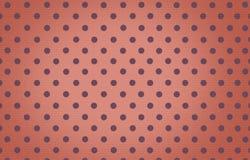 Σημείο Πόλκα με το πορτοκαλί υπόβαθρο χρώματος κρητιδογραφιών Στοκ εικόνα με δικαίωμα ελεύθερης χρήσης