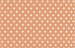 Σημείο Πόλκα με το πορτοκαλί υπόβαθρο χρώματος κρητιδογραφιών Στοκ φωτογραφία με δικαίωμα ελεύθερης χρήσης
