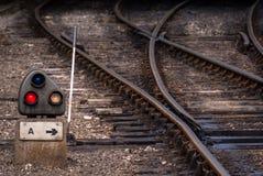 Σημείο συνδέσεων σιδηροδρόμων Στοκ εικόνες με δικαίωμα ελεύθερης χρήσης