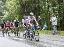 Σημείο Τζέρσεϋ Πόλκα ο ποδηλάτης Tony Martin Στοκ Φωτογραφία