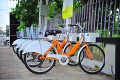 Σημείο υπηρεσιών ενοικίου ποδηλάτων Στοκ Εικόνες