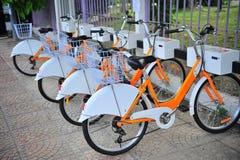 Σημείο υπηρεσιών ενοικίου ποδηλάτων Στοκ Φωτογραφία
