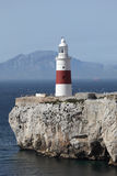σημείο φάρων της Ευρώπης Γιβραλτάρ στοκ εικόνες