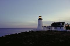 σημείο φάρων pemaquid Στοκ Εικόνες