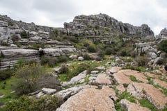 Σημείο φύσης torcal Antequera στην επαρχία της Μάλαγας, Andaluci Στοκ φωτογραφίες με δικαίωμα ελεύθερης χρήσης
