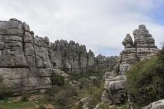 Σημείο φύσης torcal Antequera στην επαρχία της Μάλαγας, Andaluci Στοκ Εικόνα