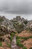 Σημείο φύσης torcal Antequera στην επαρχία της Μάλαγας, Andaluci Στοκ φωτογραφία με δικαίωμα ελεύθερης χρήσης