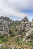 Σημείο φύσης torcal Antequera στην επαρχία της Μάλαγας, Andaluci Στοκ εικόνα με δικαίωμα ελεύθερης χρήσης