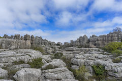 Σημείο φύσης torcal Antequera στην επαρχία της Μάλαγας, Andaluci Στοκ Φωτογραφία