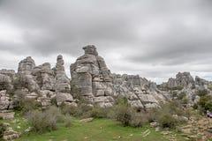 Σημείο φύσης torcal Antequera στην επαρχία της Μάλαγας, Andaluci Στοκ εικόνες με δικαίωμα ελεύθερης χρήσης