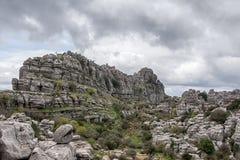 Σημείο φύσης torcal Antequera στην επαρχία της Μάλαγας, Andaluci Στοκ Εικόνες