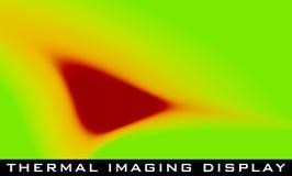 Σημείο χρώματος στην επίδειξη θερμικό imager της κάμερας διάνυσμα απεικόνιση αποθεμάτων