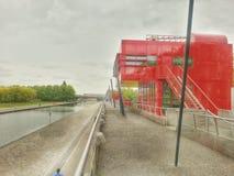 Σημείο Folie του πάρκου de Λα villette του Παρισιού, Γαλλία Στοκ εικόνες με δικαίωμα ελεύθερης χρήσης