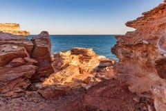 Σημείο Gantheaume στο ηλιοβασίλεμα, Broome, Kimberley, δυτική Αυστραλία, Αυστραλία στοκ εικόνες