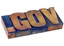Σημείο gov - περιοχή κυβερνητικού Διαδικτύου Στοκ Φωτογραφία